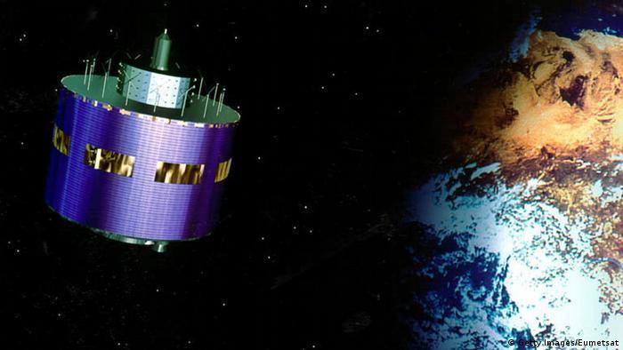 Der Wettersatellit MSG 1 im Weltall