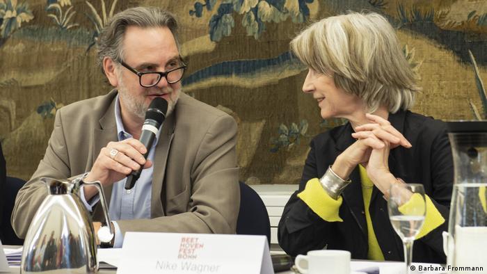 Programm-PK Beethovenfest 2019 Mondschein: Rolf Rische und Nike Wagner (Barbara Frommann)