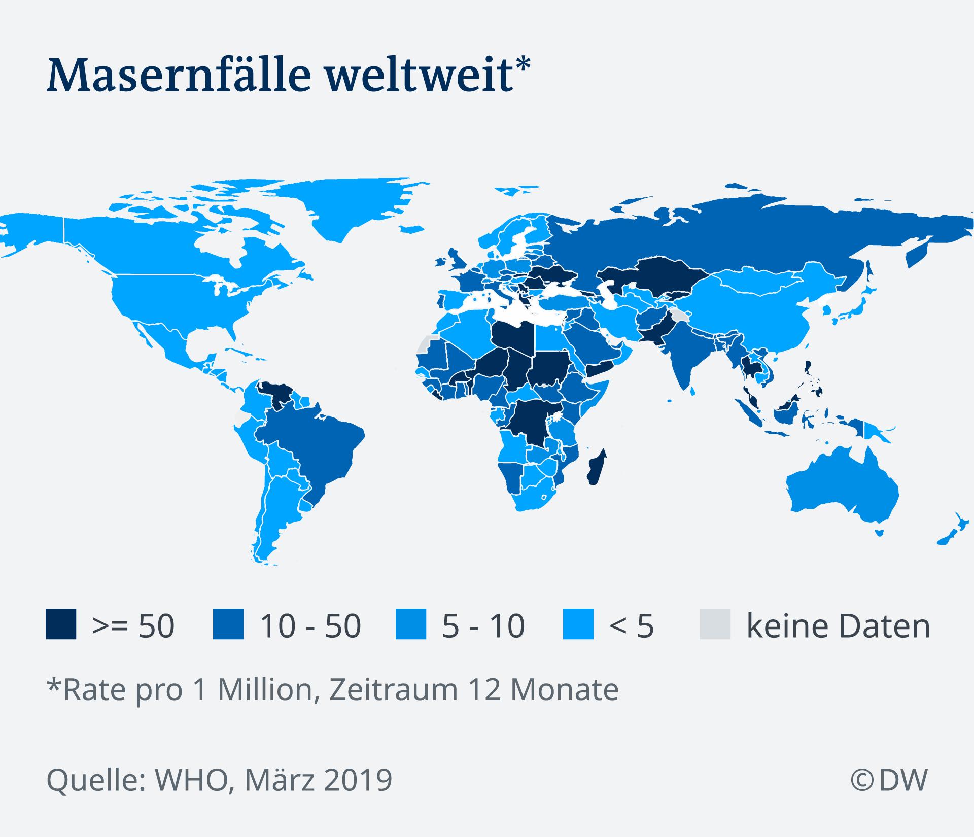 300 Prozent Mehr Masern Infektionen Weltweit Aktuell Welt Dw