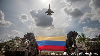 Venezuela russischer Sukhoi SU-30 Kampfjet (picture-alliance/dpa/M. Gutierrez)