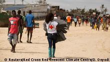 Mosambik Rotes Kreuz bei den Opfern des Zyklons Idai