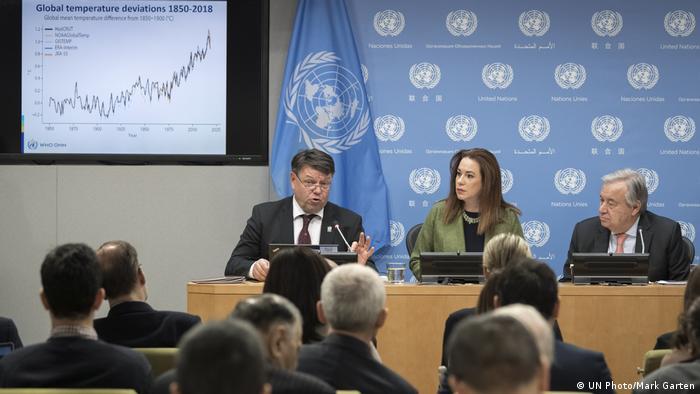 جلسه سازمان هواشناسی جهانی با حضور آنتونیو گوترش، دبیرکل سازمان ملل متحد