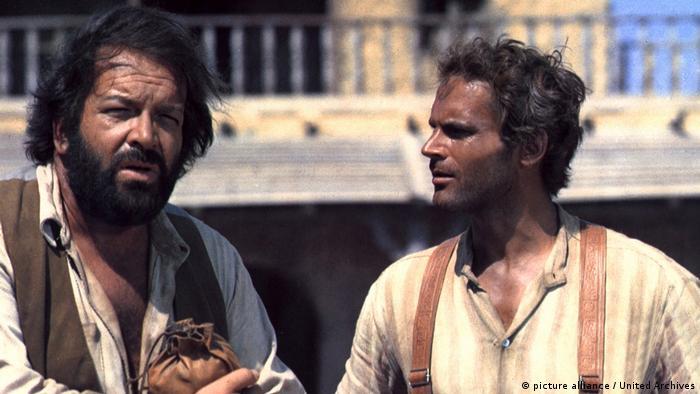 Bud Sprencer (links) und Terence Hill 1971 in Vier Fäuste für ein Halleluja. Die Italowestern-Parodie gilt als einer der besten Filme des Duo.