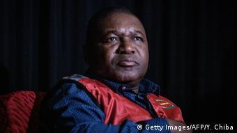 Mosambik Beira Präsident Filipe Nyusi
