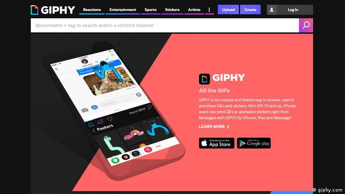 Screenshot App Giphy (giphy.com)