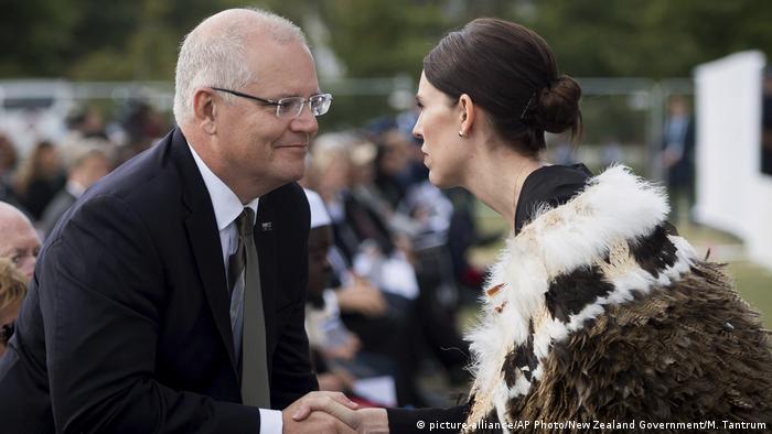Neuseeland Trauerfeier nach Terroranschlag in Christchurch   Scott Morrison & Jacinda Ardern