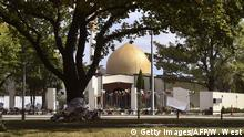 Neuseeland Terroranschlag in Christchurch | Al-Noor-Moschee Trauer, Solidarität (Getty Images/AFP/W. West)