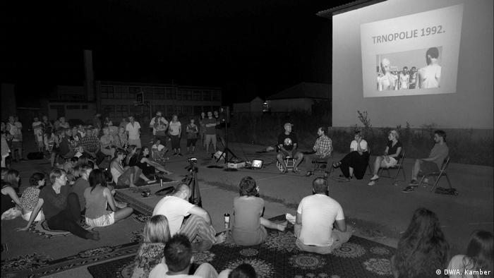 Noć u Trnopolju, jedna od aktivnosti Kvarta je održavanje radionice na mjestu nekadašnjeg logora.