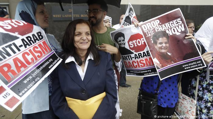 File photo of Rasmeah Odeh in 2017