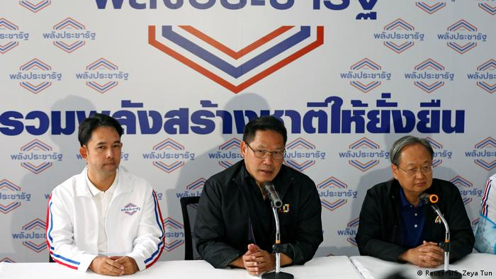 Leaders of Thailand's Palang Pracharath party