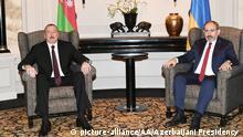 Österreich Wien Treffen Ilham Aliyev und Nikol Pashinian
