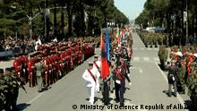 A parade in Tirana marking 10 years of Albanian NATO membership (Ministry of Defence Repubik of Albania)
