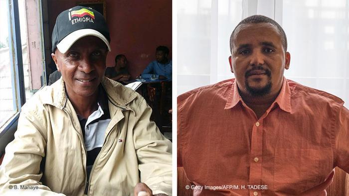 Kombobild Eskinder Nega und Jawar Mohammed