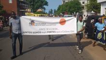 Solidaritätsmarsch in Maxixe (29.03.2019), Provinz Inhambane, (Mosambik) - Opfern des Zyklons Idai . Foto: Luciano da Conceiçao / DW
