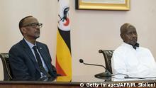 Uganda   Paul Kagame und Yoweri Museveni