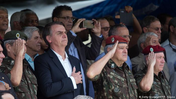 Bolsonaro em cerimônia de formatura de paraquedistas