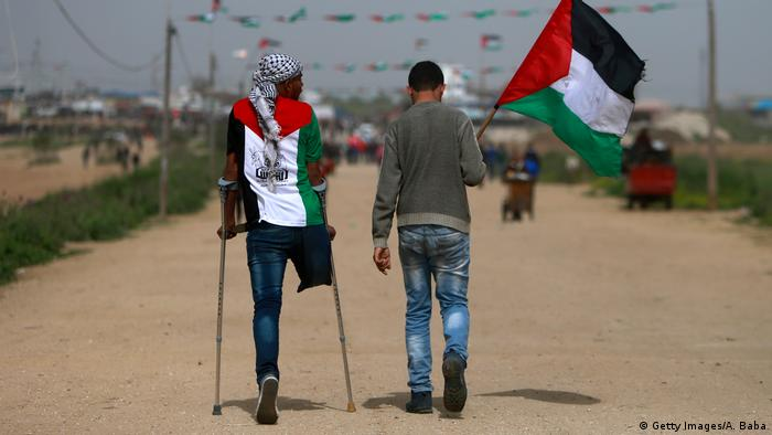 Palestinci na putu ka mjestu na kojem su održane demonstracije