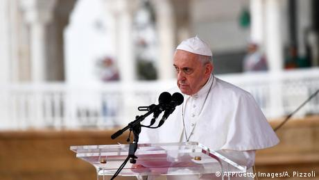 Papst Franziskus Marokko Rede (AFP/Getty Images/A. Pizzoli)