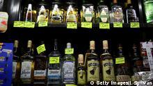 Tequila-Flaschen in einem Geschäft in Tijuana, Mexiko