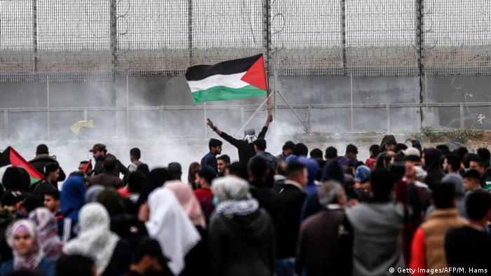 Gaza | Plästinenser protestieren im Gaza-Streifen (Getty Images/AFP/M. Hams)