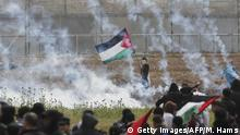 Gaza | Plästinenser protestieren im Gaza-Streifen