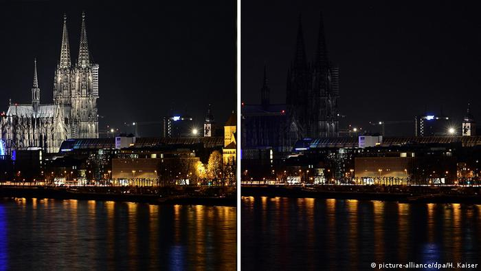 Köln: Earth Hour (picture-alliance/dpa/H. Kaiser)