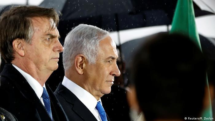 Bolsonaro foi recebido em Israel por Netanyahu em março