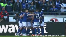 Fußball Bundesliga | 27. Spieltag | Hannover 96 - Schalke 04 | Torjubel 0:1