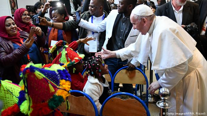 Marokko | Papst Franziskus in Rabat (Getty Images/AFP/A. Pizzoli)