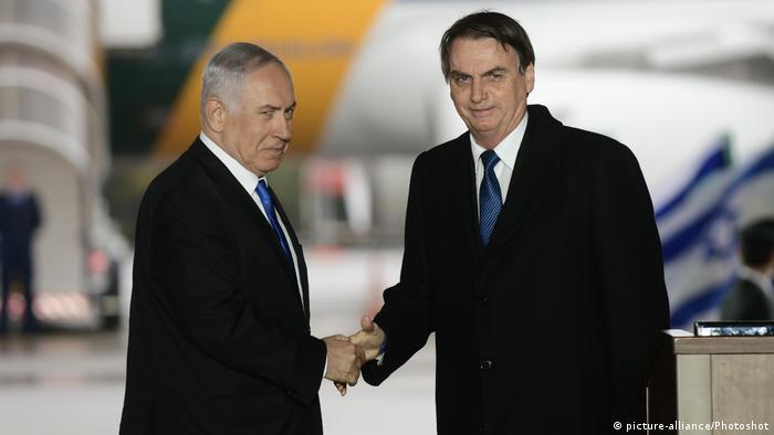Israel Benjamin Netanjahu & Jair Bolsonaro, Präsident Brasilien (picture-alliance/Photoshot)