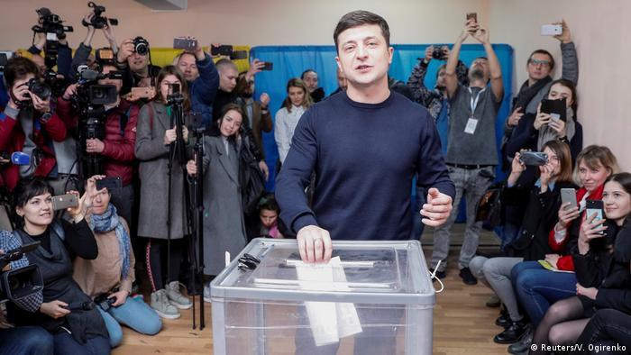 Ukraine Präsidentschaftswahl 2019 | Wolodymyr Selenskyj, Kandidat (Reuters/V. Ogirenko)