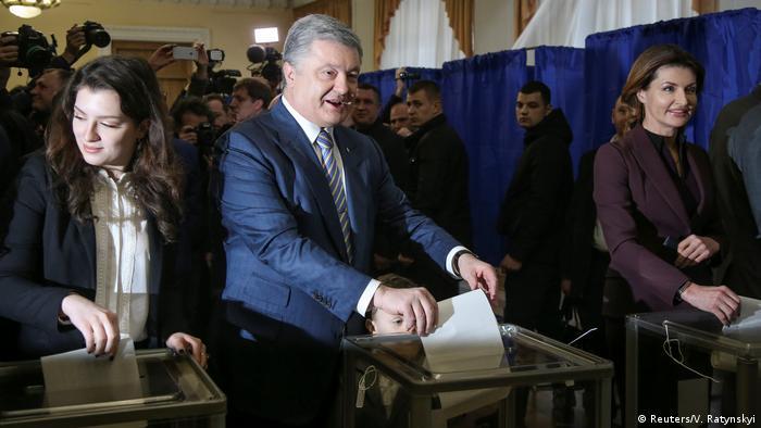 Ukraine Präsidentschaftswahl 2019 | Stimmabgabe Petro Poroschenko, Präsident