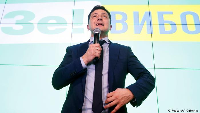 победитель первого тура Владимир Зеленский