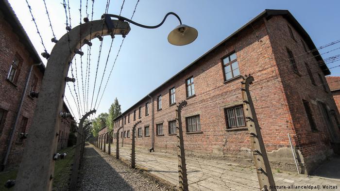 На территории бывшего концлагеря Освенцим