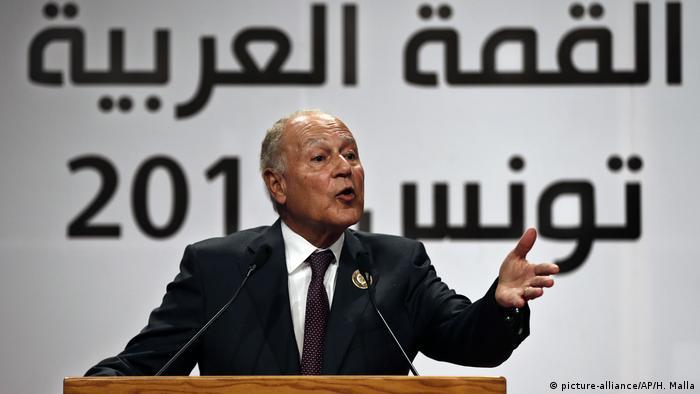 Der Generalsekretär der Arabischen Liga, Ahmed Abul Ghait