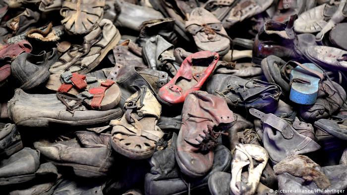 Обувь детей, убитых в Освенциме