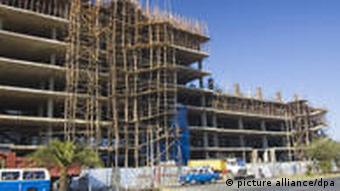 Baustelle in Addis Abeba, Äthiopien
