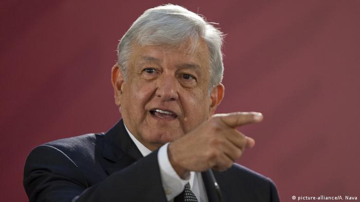 Mexiko: Präsident Lopez Obrador (picture-alliance/A. Nava)