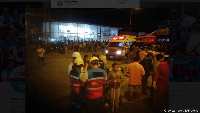 Screenshot: Busbrand in Peru (twitter.com/SAMUPeru)