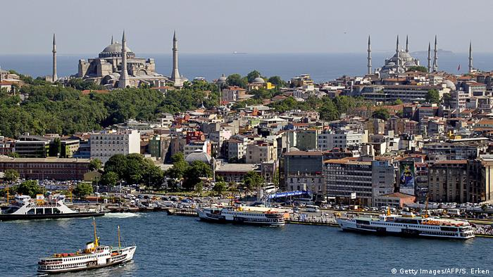 Türkei Istambul Panorama des Goldenen Horns
