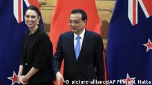 China Jacinda Ardern und Li Keqiang