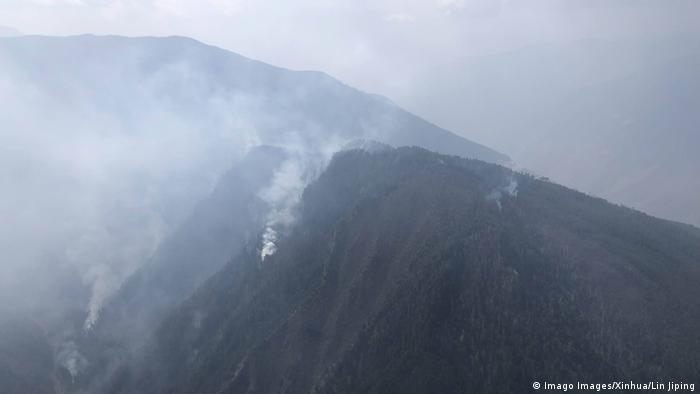 China Liangshan Waldbrände
