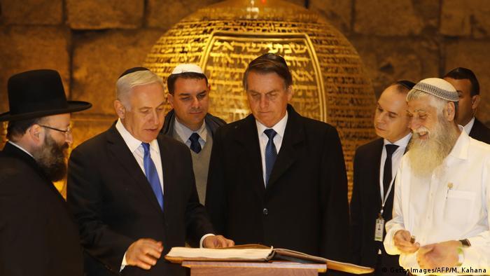 Israel Jerusalem | Netanjahu & Bolsonaro, Präsident Brasilien