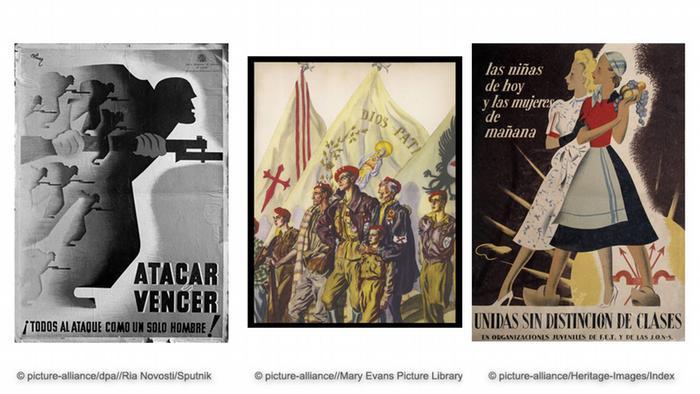 Bildkombo Plakate der spanischen Bürgerkrieg