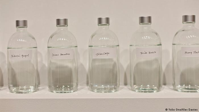 Objects from her installation We're all water shown in Sydney in 201