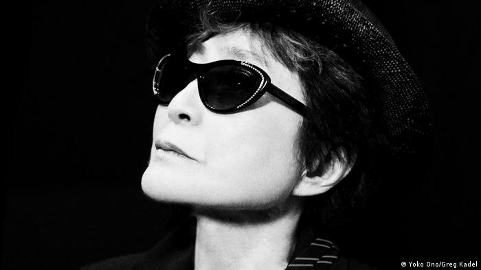 A black-and-white photo of Yoko Ono (Yoko Ono/Greg Kadel)
