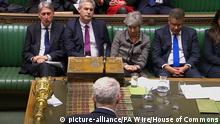 01.04.2019 Brexit. Labour leader Jeremy Corbyn speaking in the House of Commons, London after MPs fail to back proposals on alternatives to Theresa May's EU withdrawal deal. Picture date: Monday April 1, 2019. See PA story POLITICS Brexit. Photo credit should read: House of Commons/PA Wire URN:42102895 |