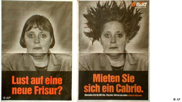 Flash-Galerie Angela Merkel 2001 in der Werbung