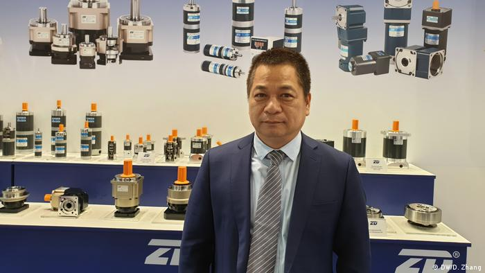 Zhongda Leader founder Cen Guojian at Hanover fair