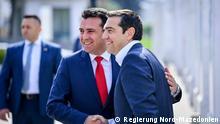Nord-Mazedonien Alexis Tsipras mit dem mazedonischen Kollegen Zoran Zaev in Skopje